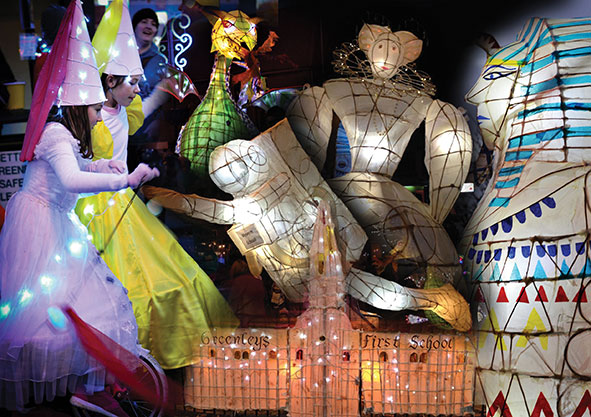 Montage from Wolverton Lantern Festival