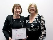 Jean Gowin from Jeanius with MK College Principle Julie Mills