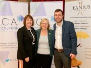 Jean Gowin, Ann Limb CBE and Ben Searle at the ICA Conference
