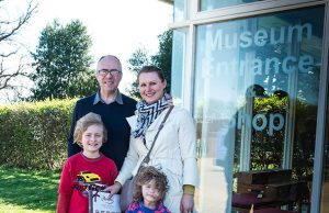 The Finnerty family from Leighton Buzzard we the 45,000th visitor this year to Milton Keynes Museum
