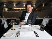 Marco Pierre White in restaurant