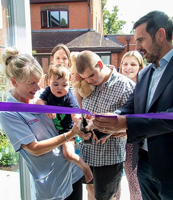 Gardener Adam Frost officially opened the new Courtyard Garden today at Keech Hospice Care.