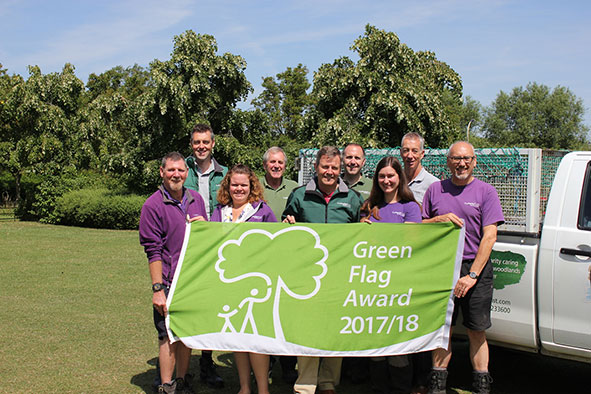 Green Flag award for The Parks Trust parks