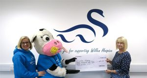 CapitalSpace's Milton Keynes Business Centre presenting the cheque to Willen Hospice