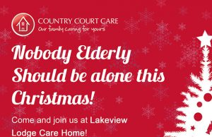 Christmas meals for the elderly at Lakeview Lodge Milton Keynes