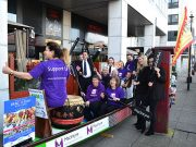 MK Dragon boat festival launch outside Melis in Milton Keynes