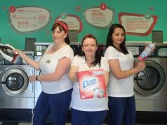 Staff from Bubbles Laundromat