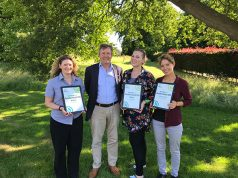 The Parks Trust representatives with the award